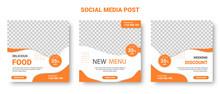 Orange And White Square Social...