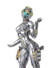 Astronaut Girl On Sci-fi Suit ...