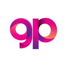 Initial Letter GP Logo Lowerca...