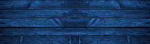 Blue Grunge Background. Wood Texture Background. Old Painted Wood Wall. Dark Blue Background With Copy Space.
