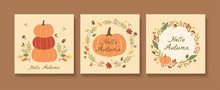 Autumn Pumpkin Pattern Set