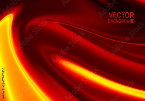 Fotografie, Obraz Vector background Vector illustration of abstract waves