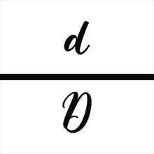 D Letter Logo Abstract Design....