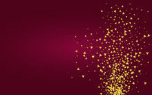 Gold Shine Shiny Burgundy Background. Isolated