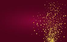 Gold Shine Shiny Burgundy Back...
