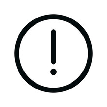 Attention Circle Isolated Icon, Exclamation Mark Linear Icon, Caution Round Outline Vector Icon With Editable Stroke