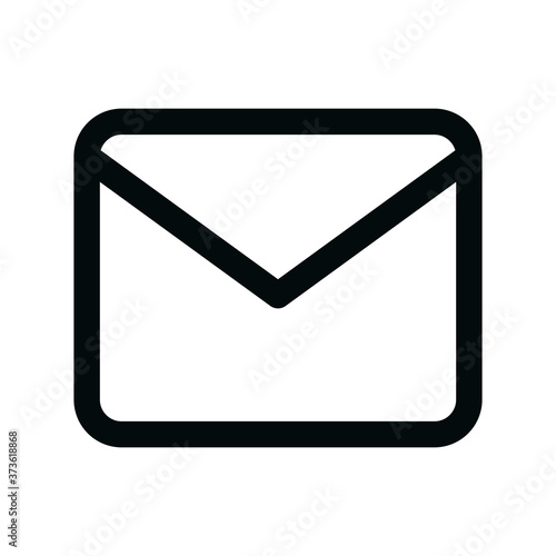 Contact email isolated icon, send email linear icon, corporate mail outline vect Fototapeta