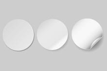 Circle Adhesive Symbol Isolate...