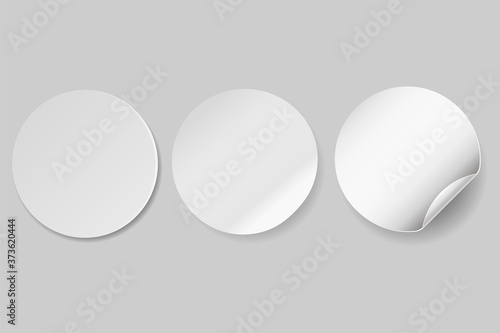 Fényképezés Circle adhesive symbol isolated on white background