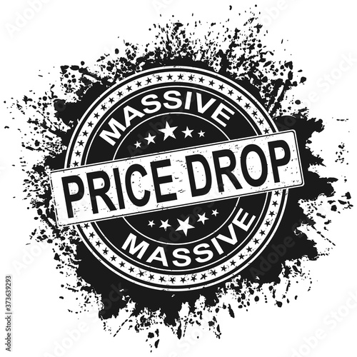 price drop Fototapet