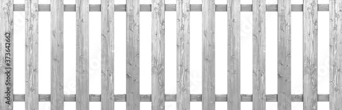 Fototapeta Old wooden fence isolated on a white background