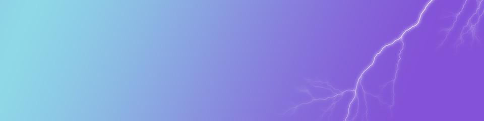 Blitz Donner mit blauem Hintergrundverlauf als Banner oder Hintergrund