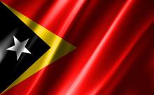 3D Rendering Of The Waving Flag East Timor