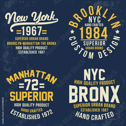 Fototapeta Vintage theme typography for t shirt prints, posters and other uses