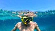 Snorkeling In Sardinia, Italy