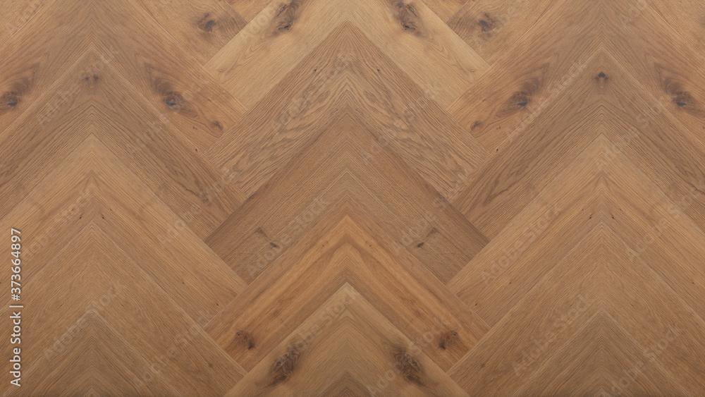 Fototapeta wood background - top view of wooden solid wood flooring parquet laminate brushed oak country house floorboard dark herringbones / fish bone