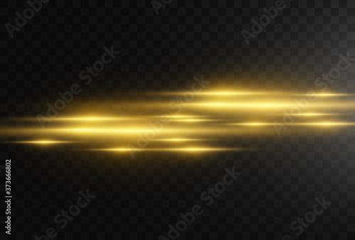 Photo Beautiful bright horizontal flare