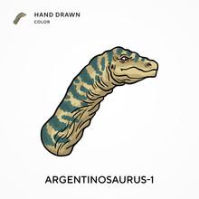 Argentinosaurus-1 Hand Drawn C...
