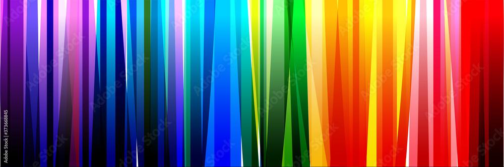 Fototapeta Fond bandes multicolores