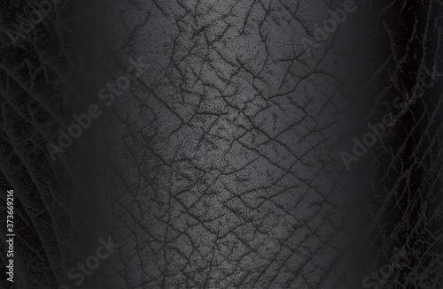 Obraz Luxury black metal gradient background with distressed natural, genuine animal elephant skin, leather texture. - fototapety do salonu