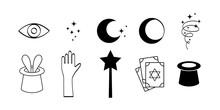 Doodle Magic Symbols Set Icon ...