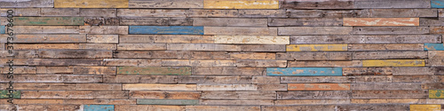 Fotografia Wooden Background From Many Old Painted Boards In Different Colors