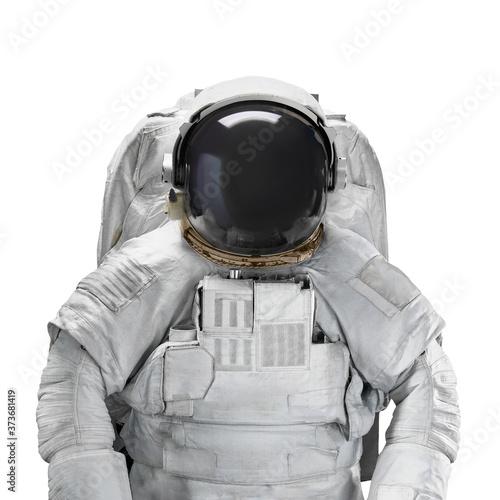 Obraz na płótnie Space suit astronaut isolated on white background