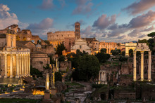 Twilight View Of The Roman For...