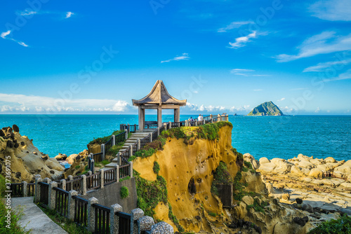 Foto scenery of Keelung islet and Heping Island Park in taiwan