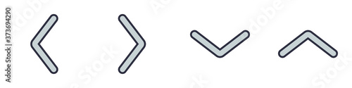 Fotografie, Obraz Conjunto de iconos de flechas azules vectoriales