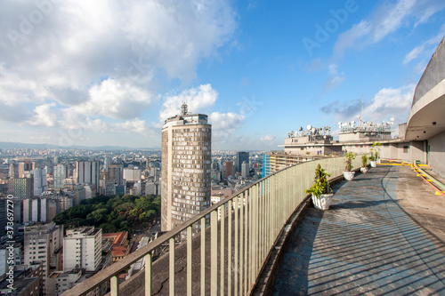 Canvastavla Terraço do Edifício Copan, ponto turístico da cidade de São Paulo, Brasil