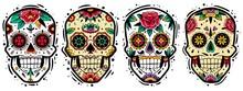 Mexican Skulls Set