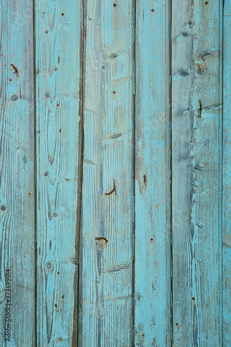 Old blue painted wooden tiles, vintage boards Fototapeta