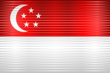 Shiny Grunge Flag Of Singapore...