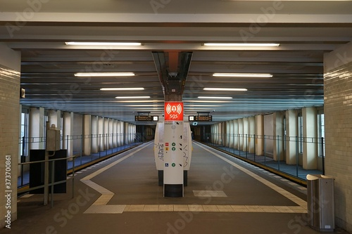 Photo Berlin, Germany_15, February 2019_U-bhan station Rathaus Schöneberg's appearance, structure and inside photographed in the winter