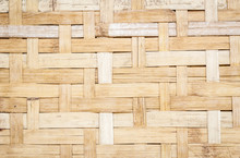 Texture Of A Bamboo Mat