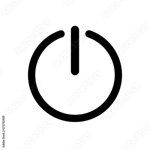 Cuadros en Lienzo Icono del botón de encendido Black Line