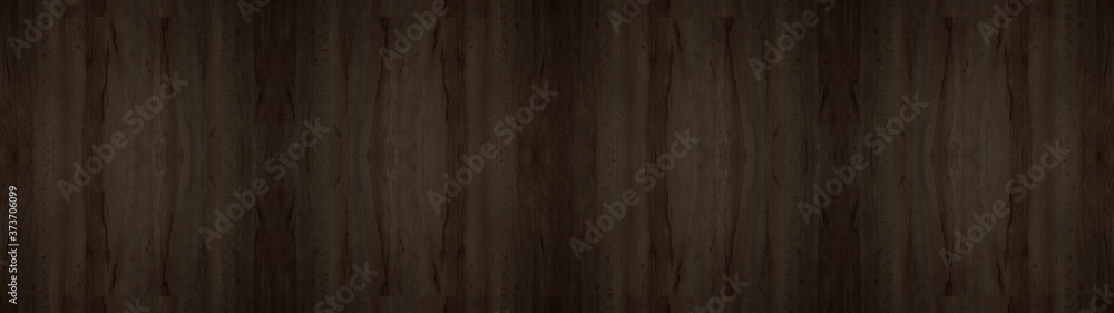 Fototapeta wood background banner wide panorama - top view of wooden solid wood flooring parquet laminate brushed oak country house floorboard dark