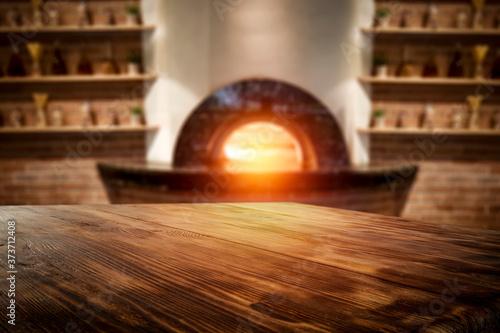 Fototapeta Desk of free space and home interior  obraz