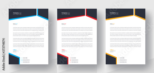 Obraz na plátně Modern Creative & Clean business style letterhead of your corporate project design