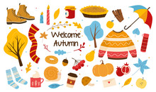 Bundle Of Autumn Trendy Elemen...