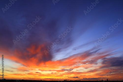 Fototapeta The sky before sunrise obraz