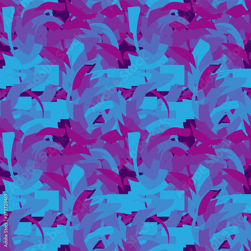 Fotografiet Seamless pattern made up of abstract angular elements