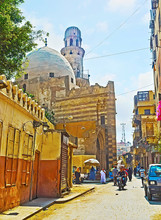 Islamic Cairo With Khanqah Of Baybars Al-Jashinkir And Narrow El-Gamaleya Street, Cairo, Egypt