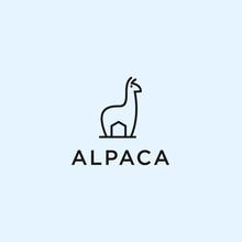 Abstract Alpaca Logo. Alpaca Icon