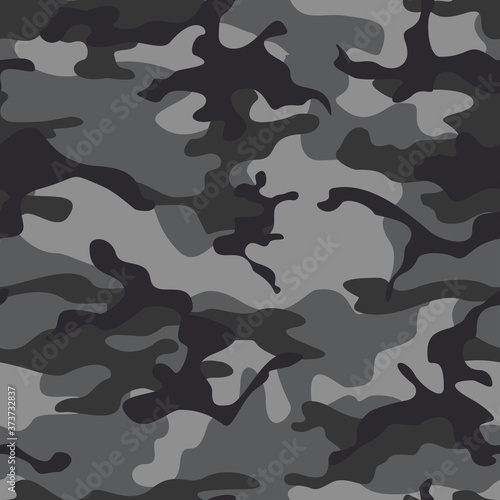 Obraz na plátně Seamless vector gray camouflage modern background for textiles