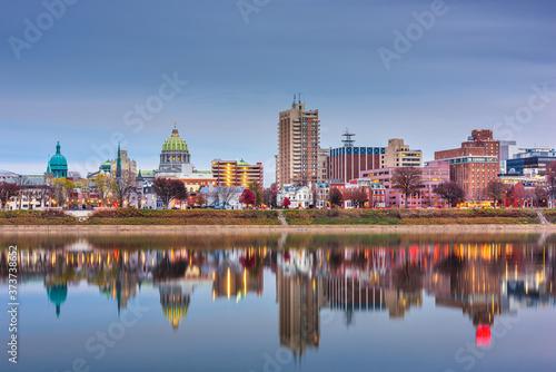 Fotografija Harrisburg, Pennsylvania, USA skyline on the Susquehanna River