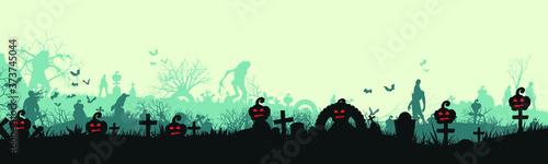 Fotografie, Obraz halloween panorama