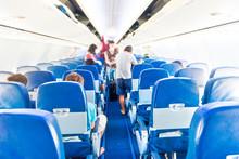 Empty Plane Interior With Few ...