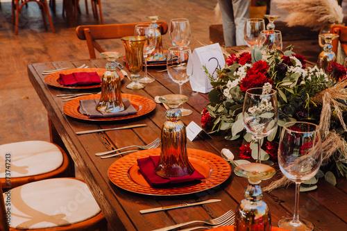 Detalles de mesas de boda Slika na platnu